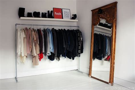 home built clothing rack