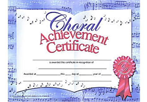 choir certificate template choir award certificate template choir certificate