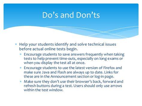 20 Dos And Donts Of A Date by The Do S And Don Ts Of Testing In Blackboard Creating And