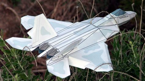 3d paper plane templates f 22 paper airplane