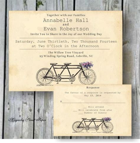bicycle for two wedding invitations tandem bicycle wedding invitation printable tandem