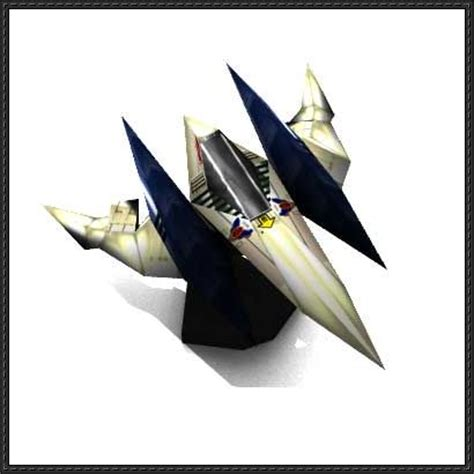 Origami Arwing - fox arwing starfighter ver 2 free papercraft