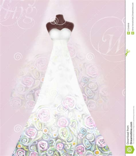 wedding dress template for cards card with wedding dress on a mannequin and veil floral
