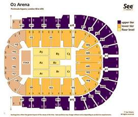 O2 London Floor Plan by O2 Arena London Map