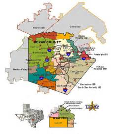 bexar county map bexar county school districts