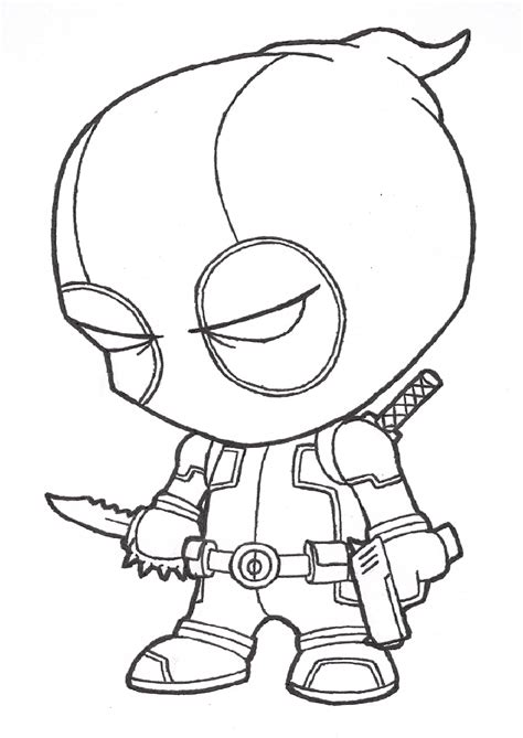 Deadpool Coloring Pages For free coloring pages of deadpool