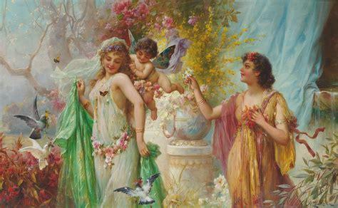 classic paintings hans zatzka austrian 1859 1949 a classical idyll