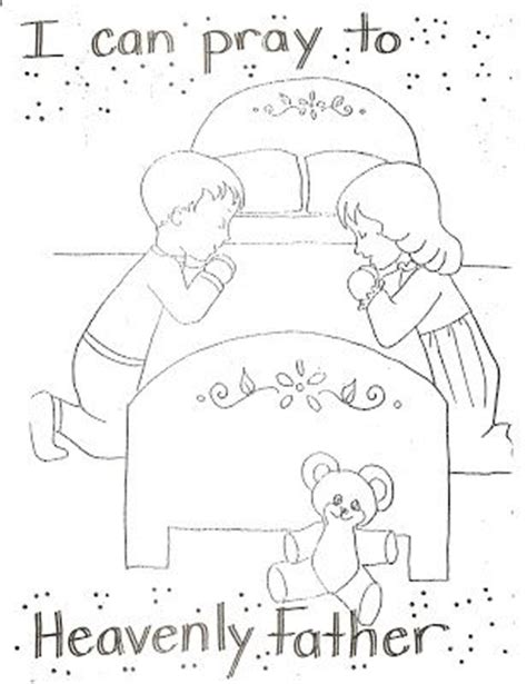 coloring pages for lds nursery lds nursery color pages 4 i can pray to heavenly father