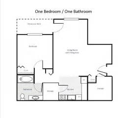 1 Bed 1 Bath Floor Plans by 1 Bedroom 1 Bath Floor Plans Pictures To Pin On Pinterest