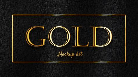 gold glossy logo titles kit 3d object envato