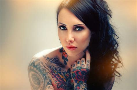 beautiful women with tattoos tattooed wallpaper
