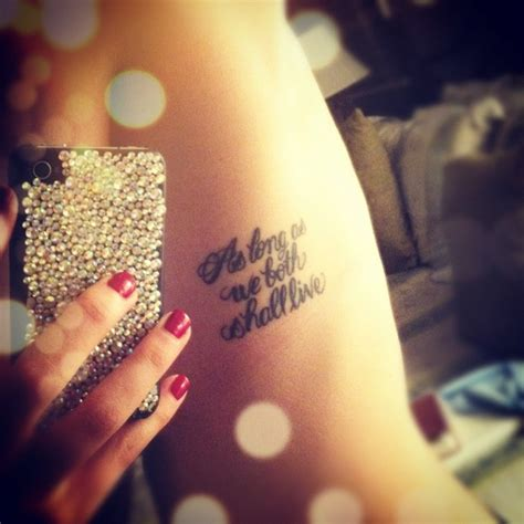 love vow tattoo tattoo placement wedding vows as long as we both shall