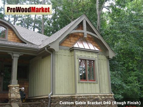 Custom Gable Bracket D40 and Wooden Corbel 20T2   Products