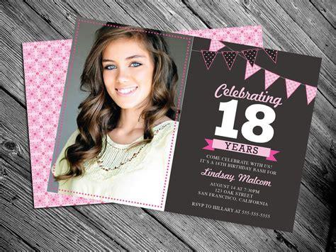 18th birthday invitations 18th birthday invitation