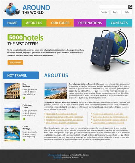 free hotel website template templatemonster free travel website template