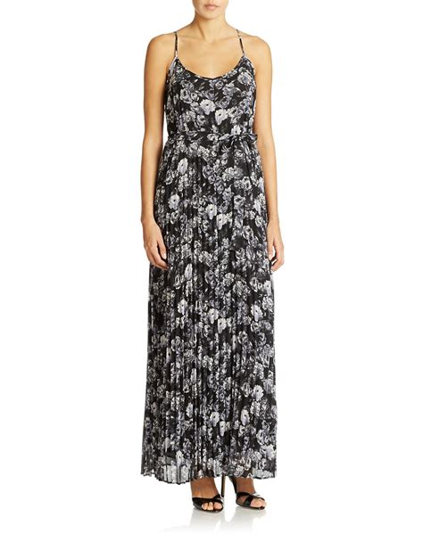 jessica simpson floral dress jessica simpson floral print maxi dress in black lyst