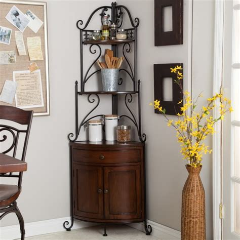 corner bakers rack with wine storage sosfund
