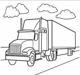 free semi truck race coloring pages