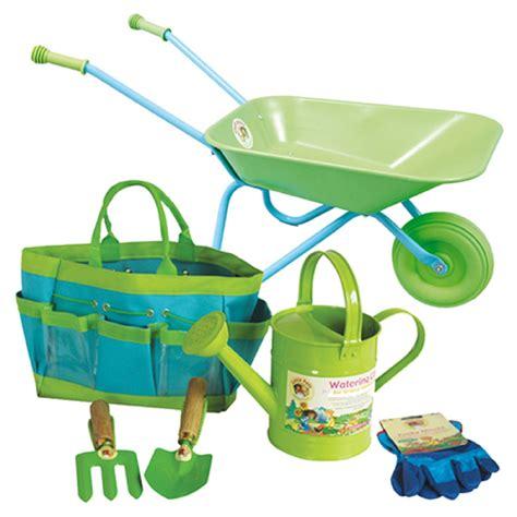 Children S Garden Tools Set by Children S Gardening Tools Watering Can Wheelbarrow Set