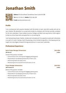 Curriculum Vitae Cover Letter Template by Cv Template Uk Newhairstylesformen2014 Com