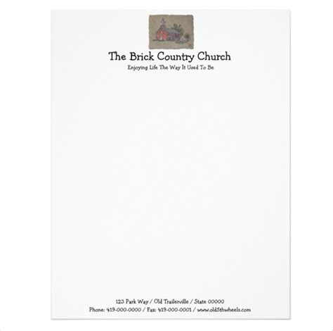 9 Church Letterhead Templates Free Sle Exle Church Stationery Templates