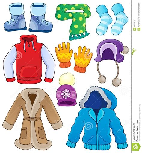 winter clothes winter clothes clipart
