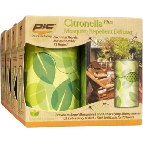 pic citronella plus mosquito diffuser of 4 ird h