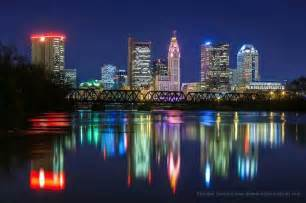 lights columbus ohio see the skyline from neil ave staycation ideas