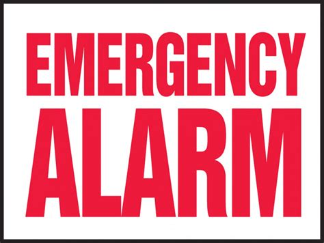Alarm Emergency emergency alarm safety sign lase507