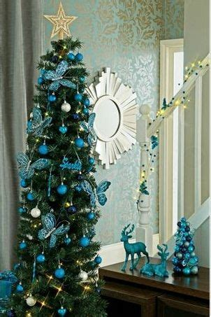 christmas decorations in teal holidays pinterest