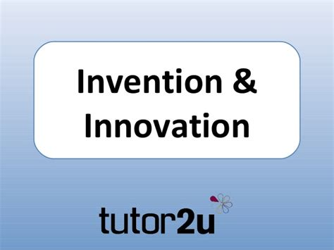 invention innovation introduction