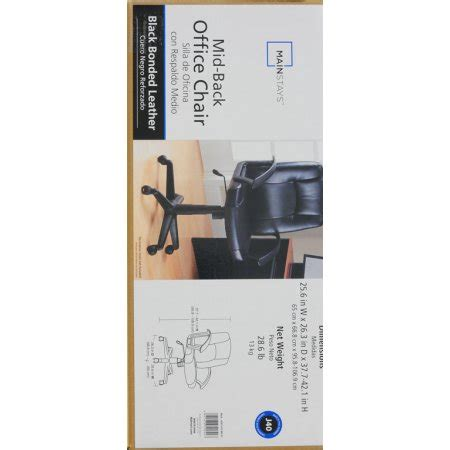 Mainstays Mid Back Office Chair by Mainstays Mid Back Leather Office Chair Black Best