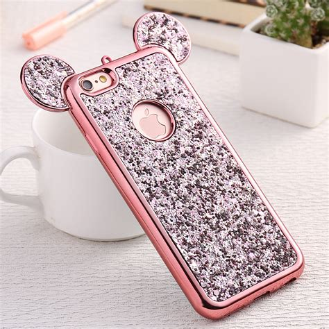 Luxury 3d Phone For Iphone 7plus buy luxury mickey mouse ears for iphone 7 plus 3d korean style bling gliiter
