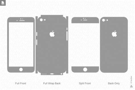 apple iphone  decal cut file vector template
