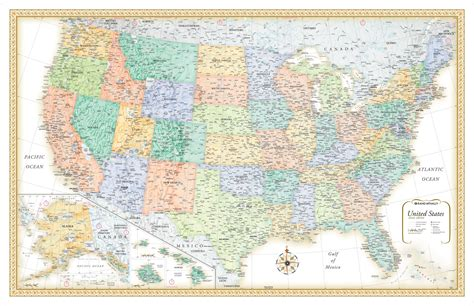 rand map in usa rand mcnally classic edition united states usa large wall