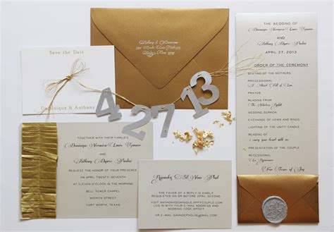 6 for diying your wedding invitation suite gusto grace
