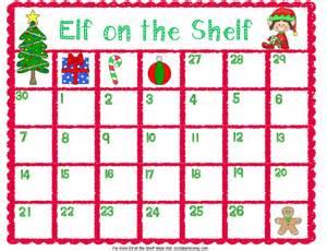 shelf planner elf on the shelf printable planning calendar