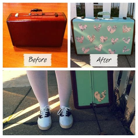 spray painting luggage 1000 images about suitcase restored on