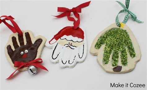 handprint tree ornament make it cozee santa reindeer tree print ornaments