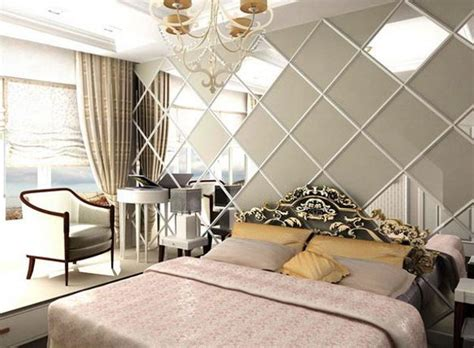 schlafzimmer spiegel wandgestaltung mit spiegeln optische raumerweiterung