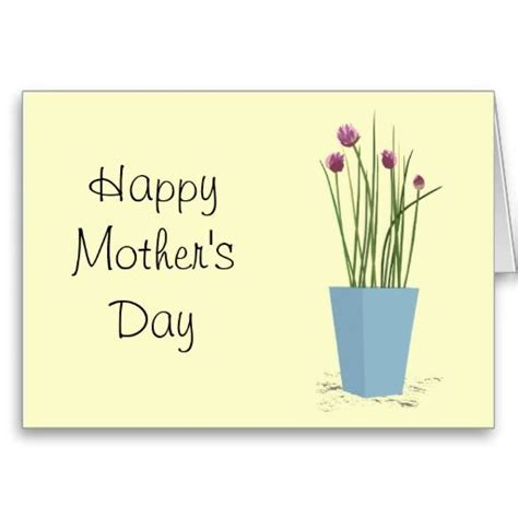 chives mothers day card template mothers day card
