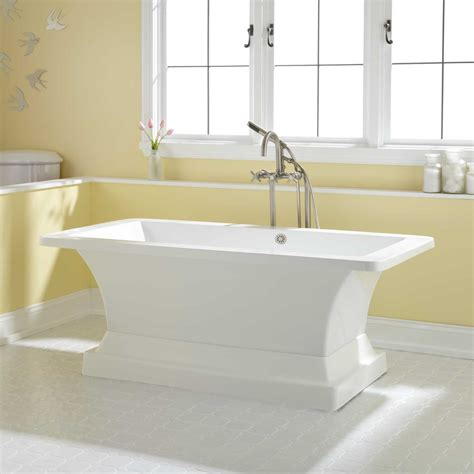 bathtubs com rosalind acrylic pedestal tub bathroom
