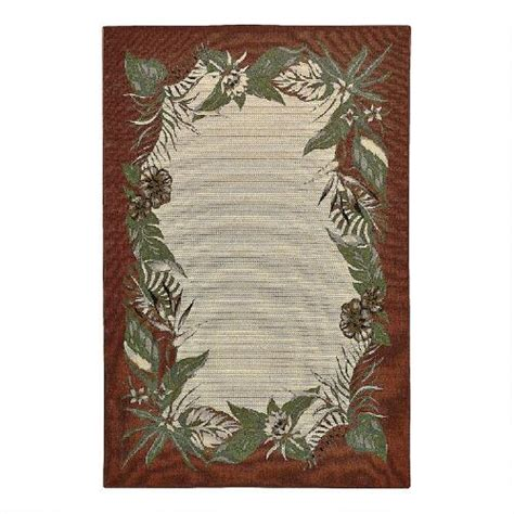 Floral Outdoor Rug Palm Floral Indoor Outdoor Rug Tree Shops Andthat
