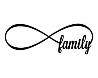 family with infinity symbol infinity sign symbol etsy