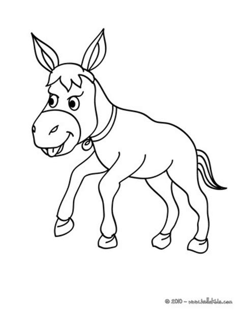 free coloring page donkey donkey coloring pages hellokids com