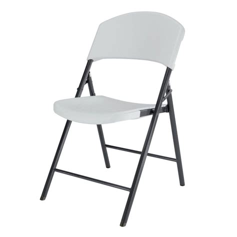 lifetime white plastic seat metal frame outdoor safe folding chair set     home depot