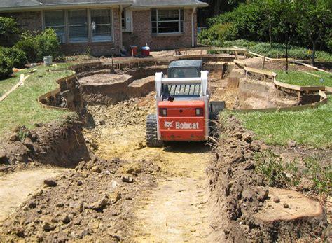 backyard excavation construction backyard amenities houston pool builder