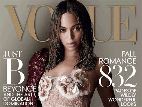 Beyonce On The Cover Of by Beyonc 233 Dominates The Cover Of Vogue September 2015 Issue