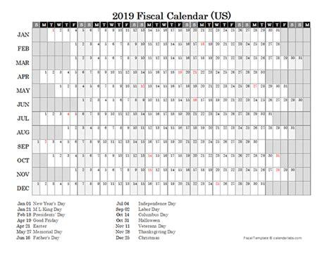 fiscal calendar usa  printable templates