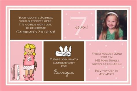 children s 7th birthday invitation wording birthday invitations 365greetings